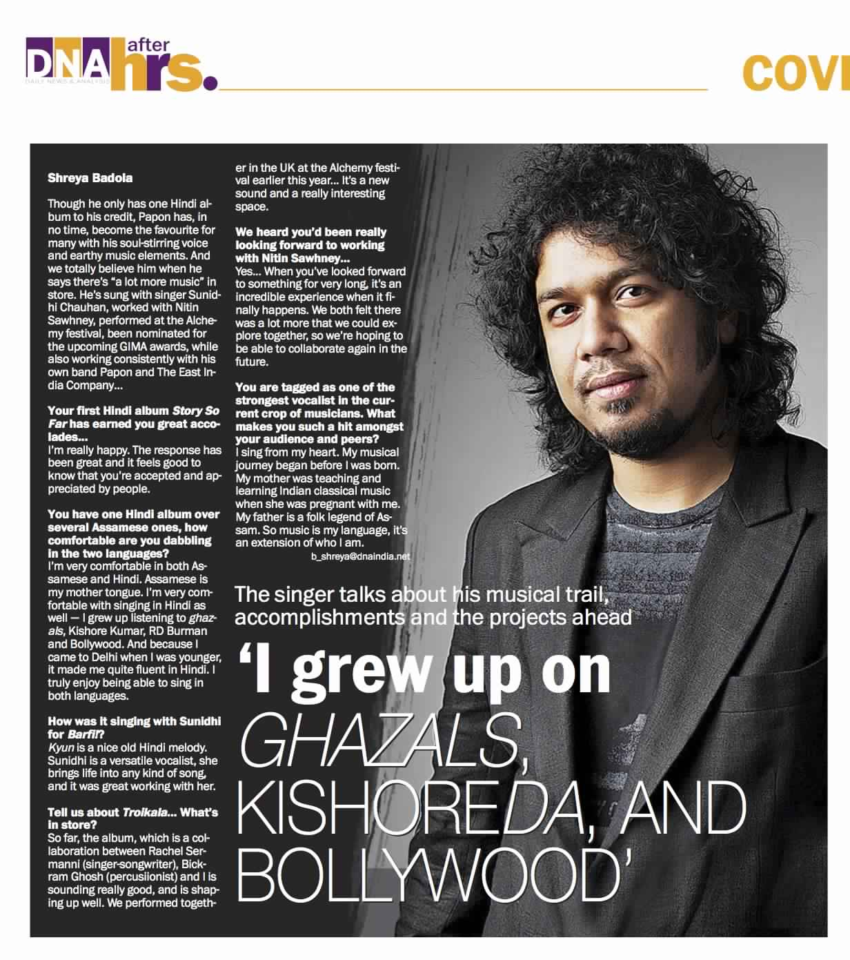 Papon - GIMA - DNA After Hrs, Mumbai - 24th August 2012