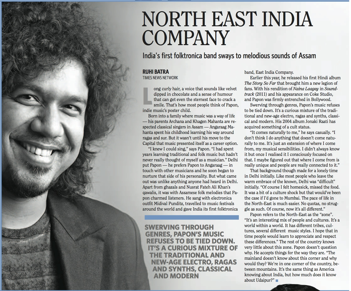Papon - Profile - Times Crest, National - 18th August 2012