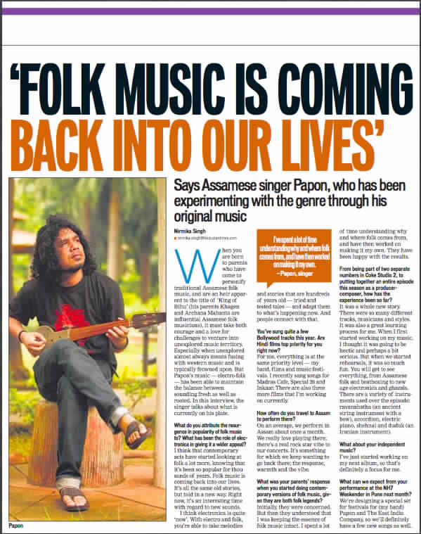 Papon - Coke Studio 3 - HT Cafe, Mumbai - 14th September 2013